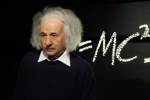 Waxwork of Albert Einstein  Photo courtesy of Petr Kratochvil